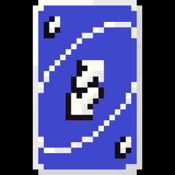 Blue Uno Reverse Card Totem Of Undying Minecraft Texture Pack