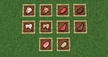 Meat with outlines! Minecraft Texture Pack