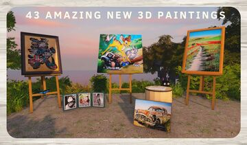 Art Addon - 43 new 3D paintings Minecraft Texture Pack