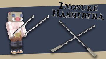 Demon Slayer (Kimetsu No Yaiba) - Inosuke Hashibira's Sword(s) Minecraft Texture Pack