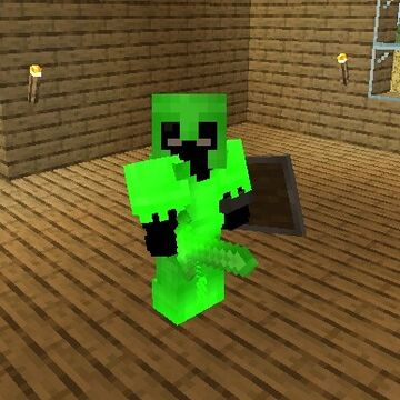 Green Enchnated Glint 1.17.1 Minecraft Texture Pack