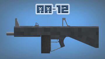 3D Model   AA-12 Minecraft Texture Pack