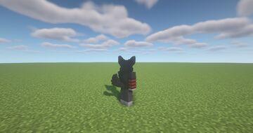 Black Werewolf Ears & Tail Minecraft Texture Pack