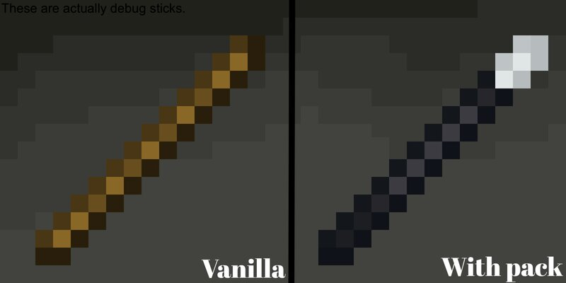 A comparison between vanilla and mine.