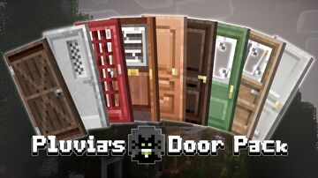 Pluvia's Modern Door Pack 1.17 Minecraft Texture Pack