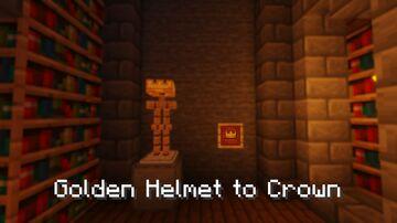Golden Helmet To Best Crown Ever (Vanilla Legend) Minecraft Texture Pack
