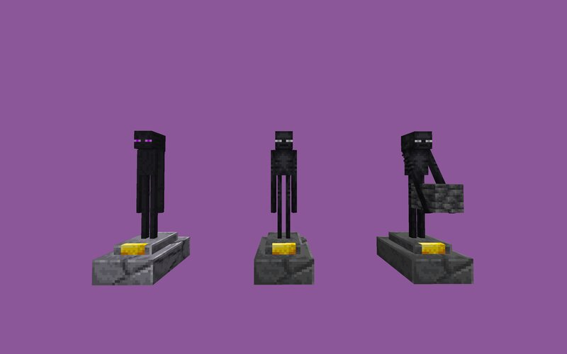 Enderman - Legacy, Current and Current with block