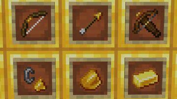 Ore Bows - Gold Minecraft Texture Pack