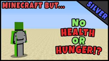Minecraft But.. You Can't See Your Health OR Hunger!? Minecraft Texture Pack