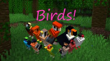 130 colorful birds skins (1.12.2/1.14.4/1.16.5) Minecraft Texture Pack