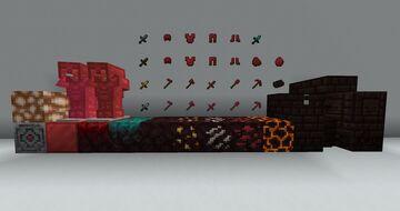 Red Netherite + Daggers Minecraft Texture Pack