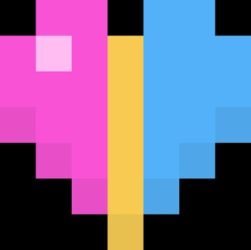 Pansexual Hearts GUI Minecraft Texture Pack