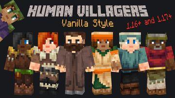 Human Villagers - Vanilla Style Minecraft Texture Pack