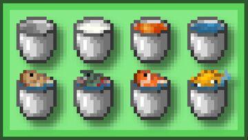 Buckets+ : Bedrock Minecraft Texture Pack
