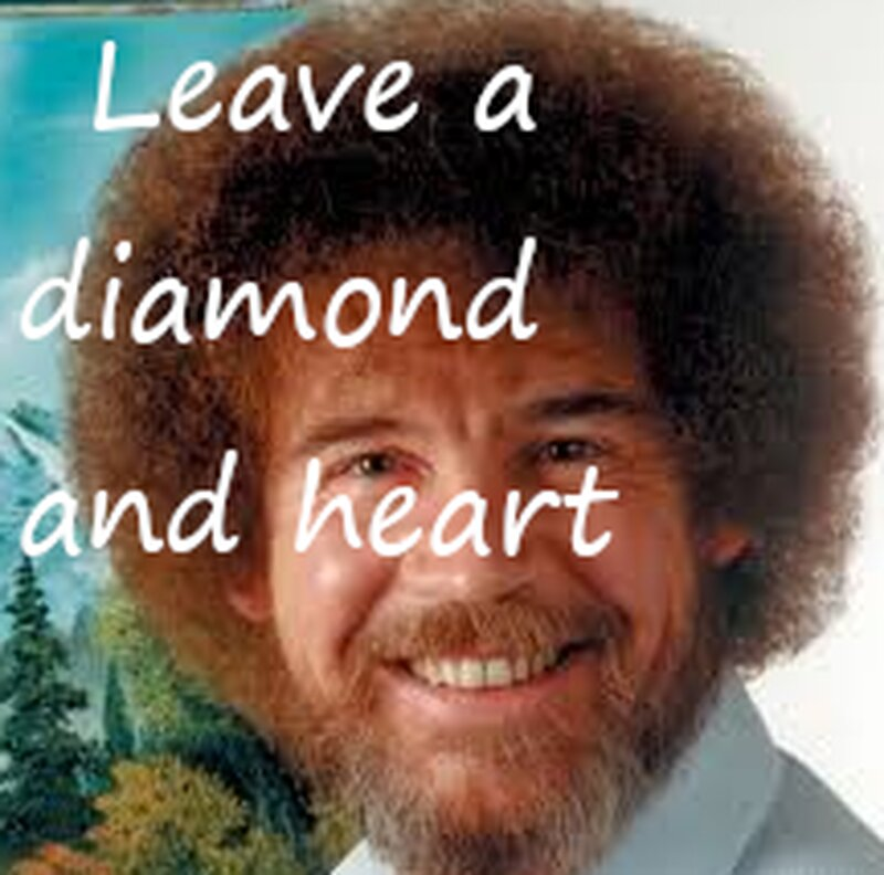 You couldn't say no to Bob Ross? Could you?