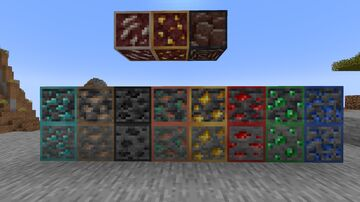 Outlined 1.17 Default Ores Minecraft Texture Pack
