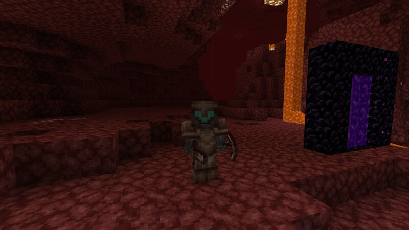 Geared up and ready to explore the Nether.