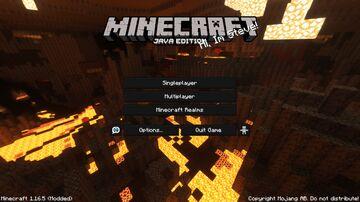 Basalt Deltas - Nether Menu Panorama with Shader! Minecraft Texture Pack