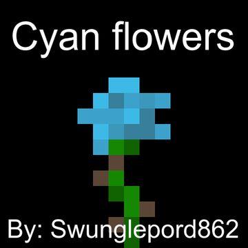 Cyan flowers Minecraft Texture Pack