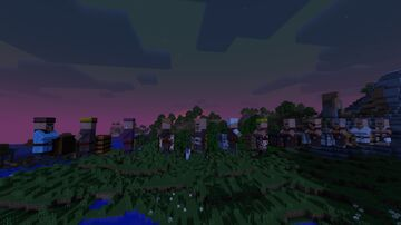 Developer Art Villagers + Minecraft Texture Pack