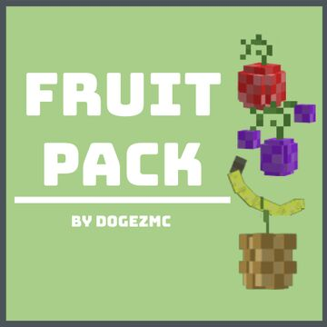 [1.16.5+] 3D Fruit 4-Pack - No Optifine Required Minecraft Texture Pack