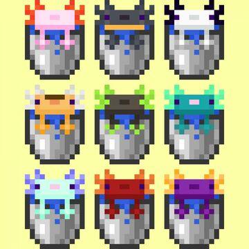Variated Axolotls Minecraft Texture Pack