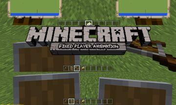 Fixed Player Animation 0.0.0b (Minecraft Bedrock) Minecraft Texture Pack