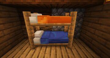 Bunk beds, custom beds (better beds) Minecraft Texture Pack