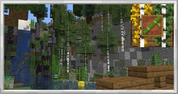 Birch Bamboo and Nether Mushroom Trees Minecraft Texture Pack