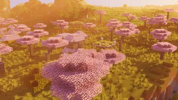 Full Cherry Blossom Trees Minecraft Texture Pack