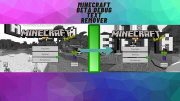 Beta Debug Text Remover Minecraft Texture Pack