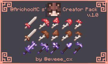 Mushroom & Amethyst Tools | ArichooMCs' Creator Pack v.1.0 -JAVA & BEDROCK Minecraft Texture Pack