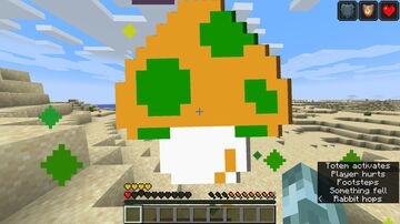Super Mario Bros. 1-UP Mushroom over Totem Minecraft Texture Pack