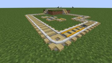 Stripped Birch Log Rails! (1.17 but will most likely work from 1.15 onwards) Minecraft Texture Pack
