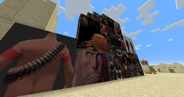 minecraft but all the paintings are the heavy tf2 Minecraft Texture Pack