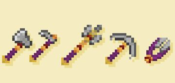 Royal Tool Set - Breath of the Wild Weapons and Tools 16X16 Minecraft Texture Pack