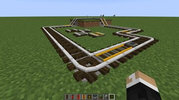 Dark Oak Log Rails! (1.17 but will most likely work from 1.15 onwards) Minecraft Texture Pack