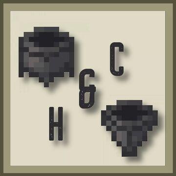 Hoppers & Cauldrons - Bedrock Minecraft Texture Pack