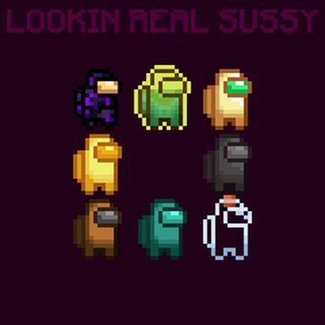 LOOKIN REAL SUSSY : AN AMOGUS EXPERIENCE Minecraft Texture Pack