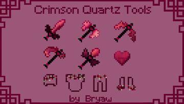Crimson Quartz - Diamond Tools & Armor Minecraft Texture Pack