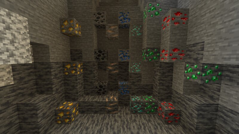 Newest ores with deepslate