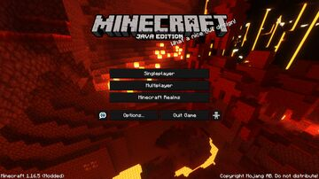 Crimson Forest - Nether Panorama with shader! Minecraft Texture Pack