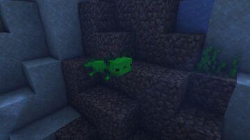 Green Fluorescent Protein Axolotl Minecraft Texture Pack