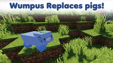 Wumpus replaces pigs! Minecraft Texture Pack