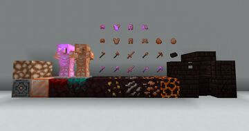Orange Netherite Minecraft Texture Pack