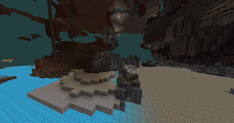 Biome Intersection Soul Sand, Basalt - no shaders