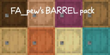FA_pew's 3D biome BARREL pack Minecraft Texture Pack