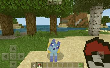 Glaceon wolf (bedrock & java) Minecraft Texture Pack
