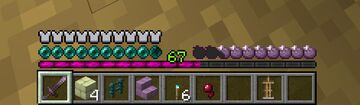 Ender Pack - Ender Pearl/Eye of Ender Health Bar, Chorus Fruit Hunger Bar, and Fuchsia Experience Bar (Multiple Options) Minecraft Texture Pack
