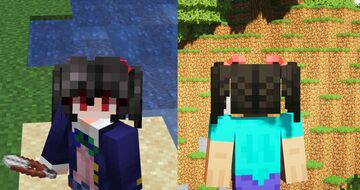 Nico Yazawa 3D twin tails + Wig Minecraft Texture Pack
